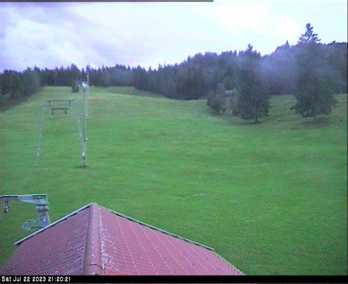 Webcam Skigebied Mittenwald - Kranzberg Abfahrt Luttensee - Alpen Oberbayern