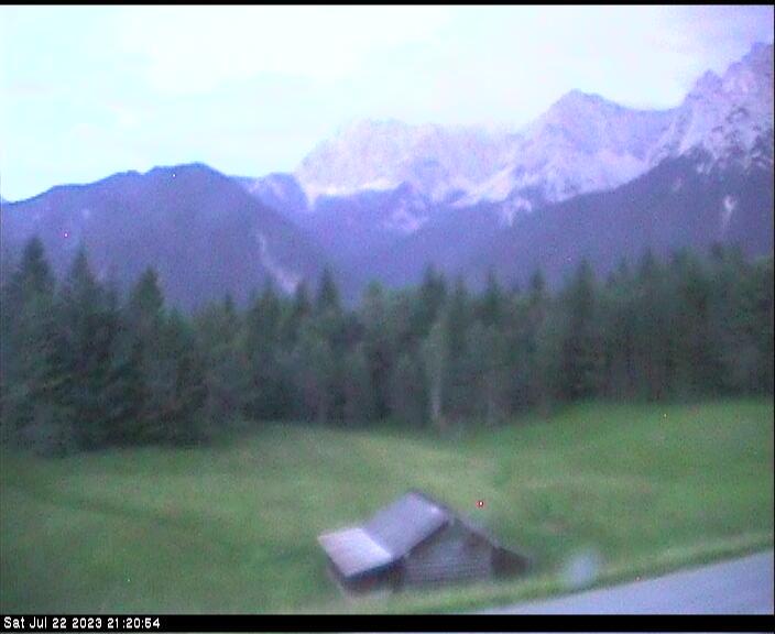 Webcam Ski Resort Mittenwald - Kranzberg Karwendel - Bavaria Alps - Upper Bavaria