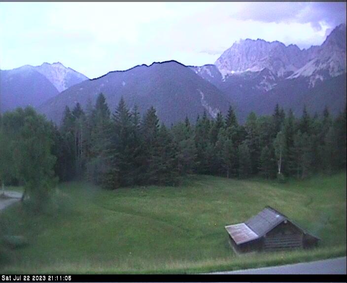 Webcam Skigebiet Mittenwald - Kranzberg �bungslift - Oberbayern